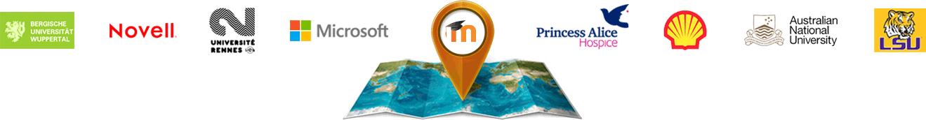 Disponível em mais de 100 idiomas, o Moodle® é confiável por organizações e instituições, grandes e pequenas, com milhões de usuários em todo o mundo.